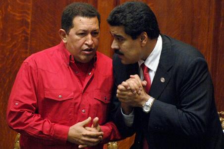 Chávez y Maduro