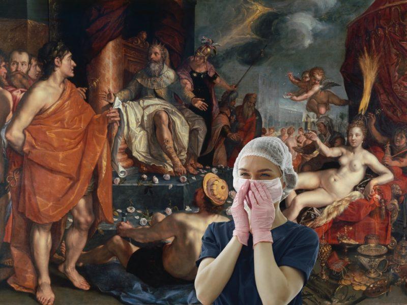 Hermes presentando a Pandora al rey Epimeteo