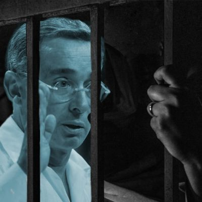 Álvaro Uribe Vélez, preso en casa cárcel.